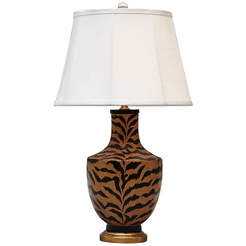 Port 68 Le Tigre Natural Gold and Black Lacquer Table Lamp