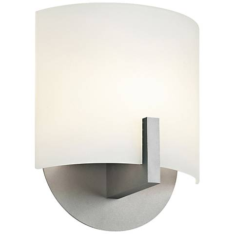 "Sonneman Scudo LED 8""H Bright Satin Aluminum Wall Sconce"