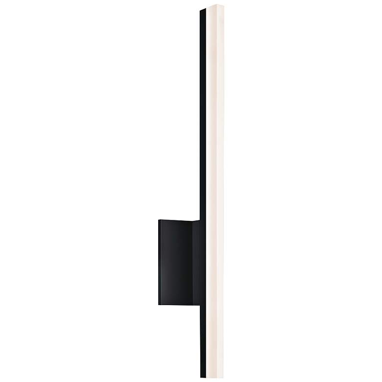 """Stiletto 23 3/4""""H Satin Black Dimmable LED Wall Sconce"""