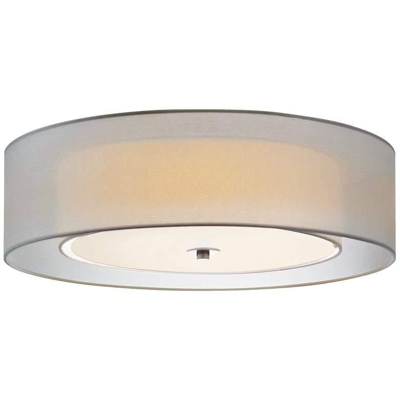 "Sonneman Puri 22""W Satin Nickel Fluorescent Ceiling Light"