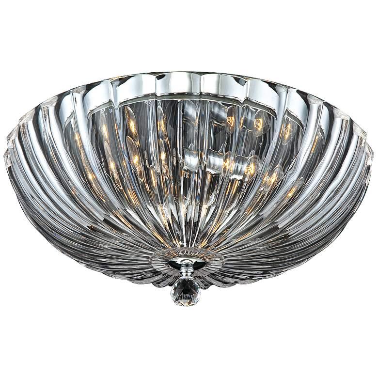 "Eurofase Aurora 15 3/4""W Scalloped Glass Ceiling Light"