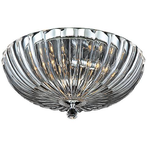 "Eurofase Aurora 15 3/4""W Scalloped Glass Ceiling Light"