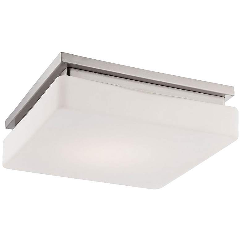 "Eurofase Ellsworth 11 1/2"" Square LED Opal Ceiling Light"