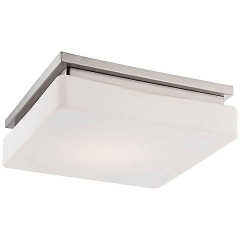 """Eurofase Ellsworth 11 1/2"""" Square LED Opal Ceiling Light"""