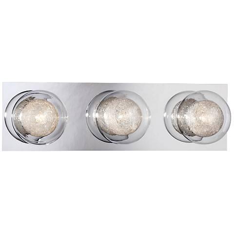 """Eurofase Cambria 16 1/2"""" Wide 3-Light Chrome Bath Light"""