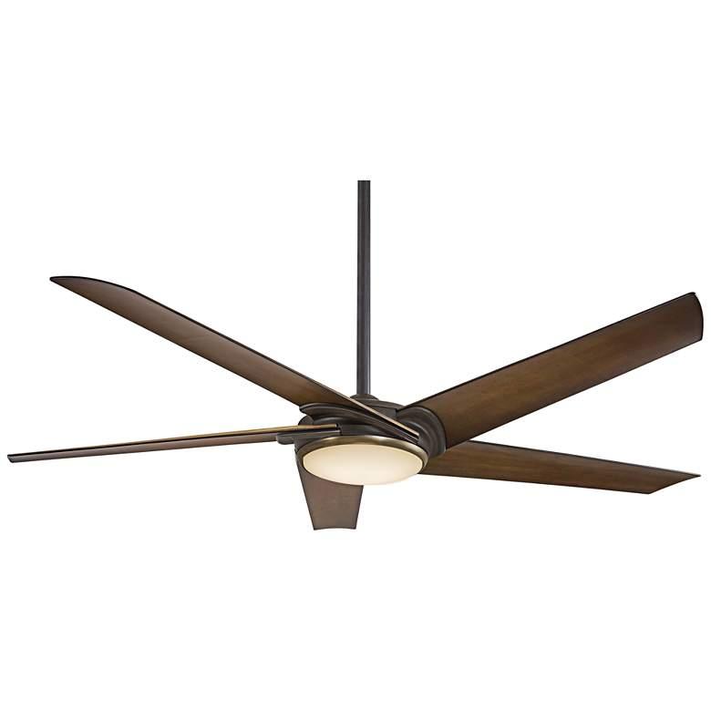 """60"""" Minka Aire Raptor Bronze LED Ceiling Fan"""