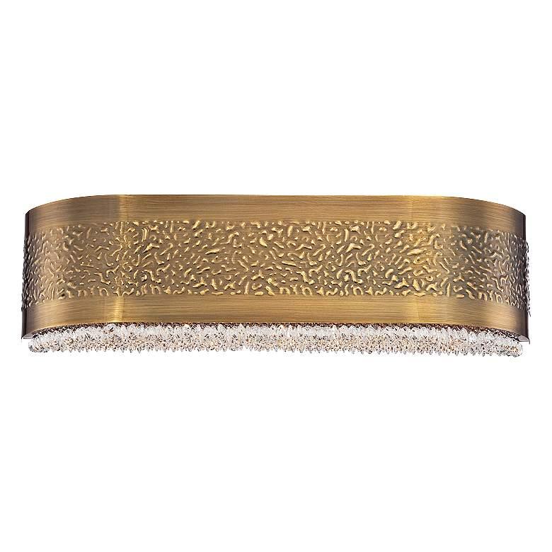 """Eurofase Cara 20"""" Wide Snow Glass Antique Gold"""