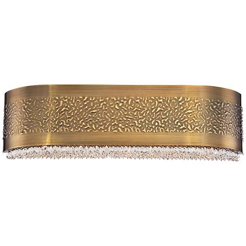 "Eurofase Cara 20"" Wide Snow Glass Antique Gold Bath Light"