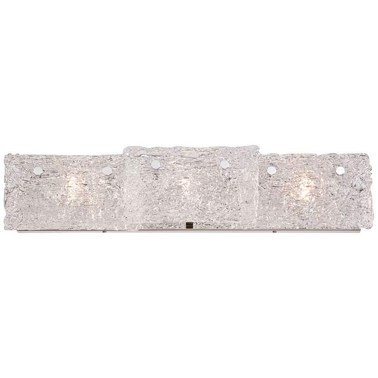 "Eurofase Caramico 27 1/4""W 3-Light Ice Glass Bath Light"