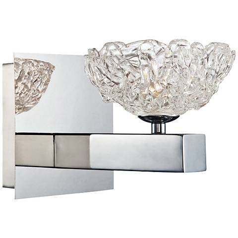 "Eurofase Caramico 5 3/4"" High Clear Ice Glass Wall Sconce"