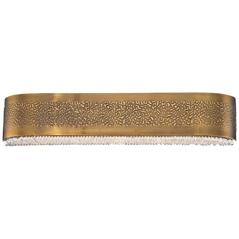 "Eurofase Cara 27 1/2""W Snow Glass Antique Gold"