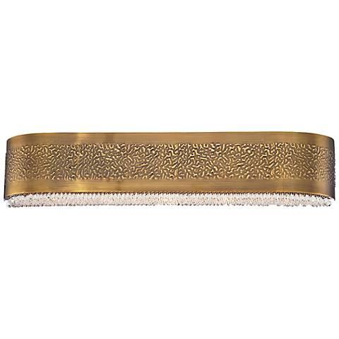 "Eurofase Cara 27 1/2""W Snow Glass Antique Gold Bath Light"