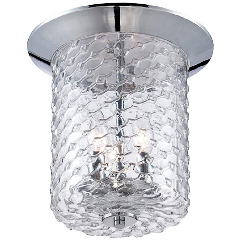 "Eurofase Elli 11 1/2"" Wide Honeycomb Glass Ceiling Light"