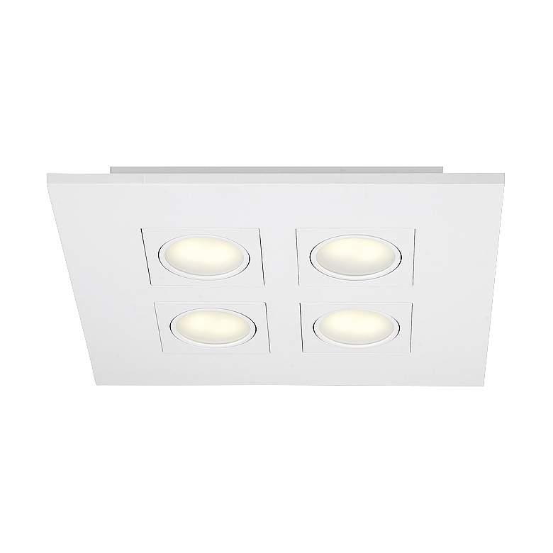 """Eurofase Venue 14 1/2"""" Square White 4-LED Ceiling Light"""