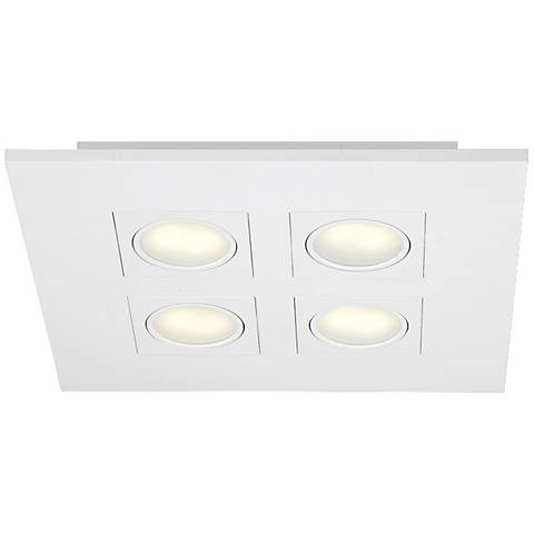 "Eurofase Venue 14 1/2"" Square White 4-LED Ceiling Light"