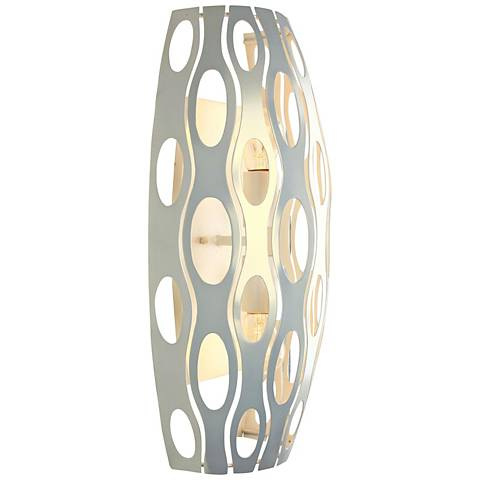 "Varaluz Masquerade 19""H Pearl Steel 2-Light Wall Sconce"
