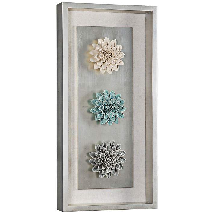 Ceramic Flower 34 High Framed Wall Art