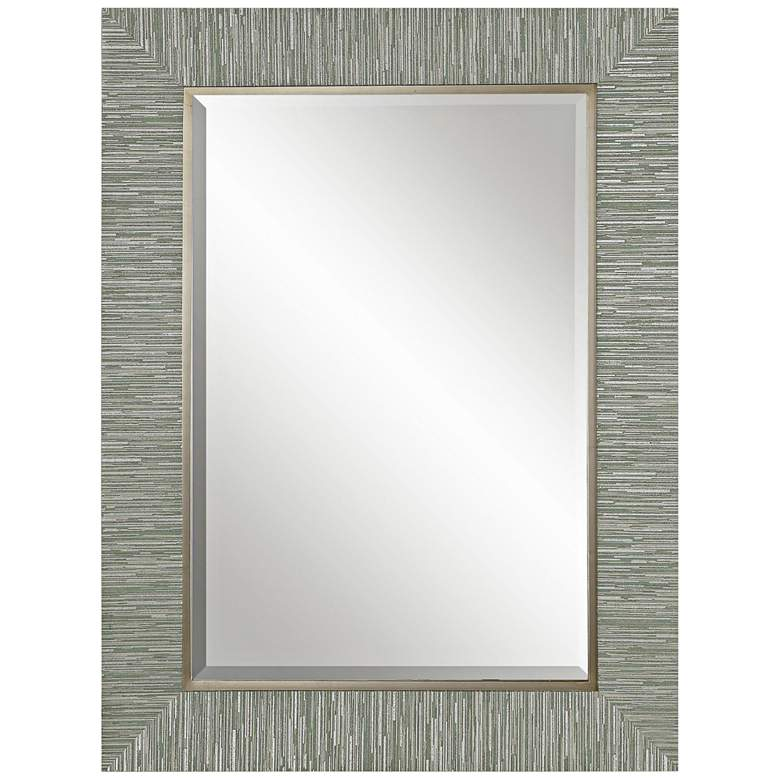 "Belaya Textured Stripe 28"" x 38"" Rectangle Wall Mirror"