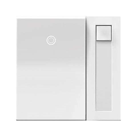adorne® White 700 Watt Paddle Dimmer with Status Light