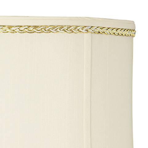 Metallic Gold and Gray Twist Lamp Shade Trim - 3 Yards