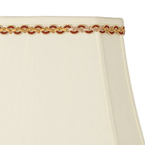Gold and Rust Serpentine Lamp Shade Trim - 4 Yards
