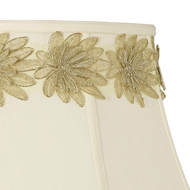Metallic Gold Applique Flower Lamp Shade Trim - 3 Yards