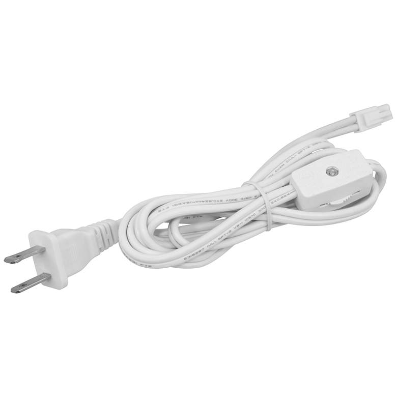 MVP Puck Light 6' White Power Cord with Roller Switch