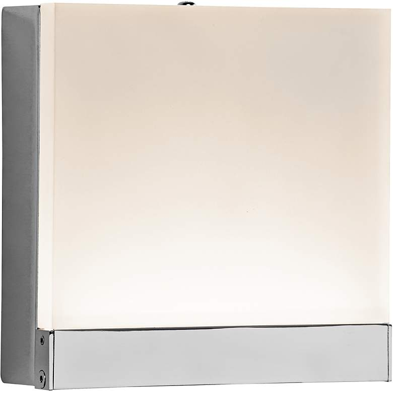 """Elan Colson 5"""" Square LED Etched Acrylic Wall Sconce"""