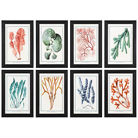 "Uttermost Colorful Algae 8-Piece 18 1/2"" High Wall Art Set"