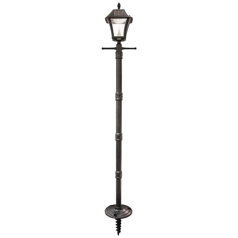 "Baytown 78"" High 1-Light Solar LED Post Light in Black"