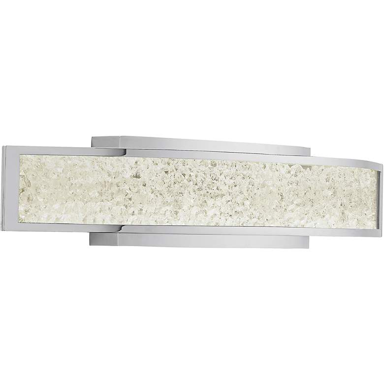 "Elan Crushed Ice 24 1/4"" Wide LED Crystal Gem Bath Light"