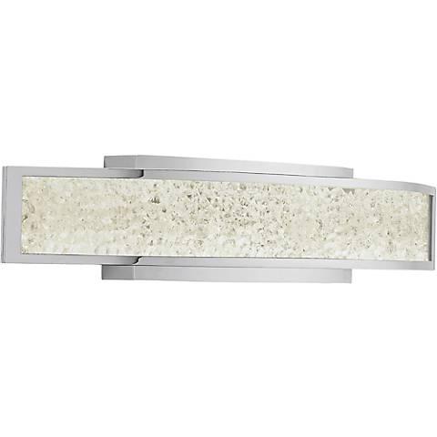 "Elan Crushed Ice 24 1/4"" Wide LED Crystal Gem Bath Light"