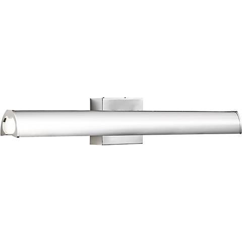 """Elan Krizia 32"""" Wide LED Chrome Etched Acrylic Bath Light"""