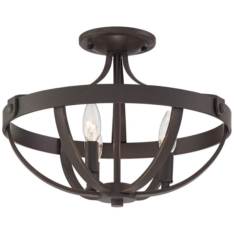 "Anaya 15"" Wide Bronze 3-Light Ceiling Light"