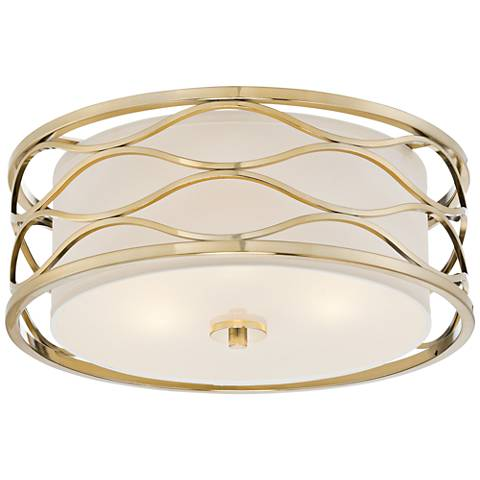 "Austen 16"" Wide Plated Gold Ceiling Light"