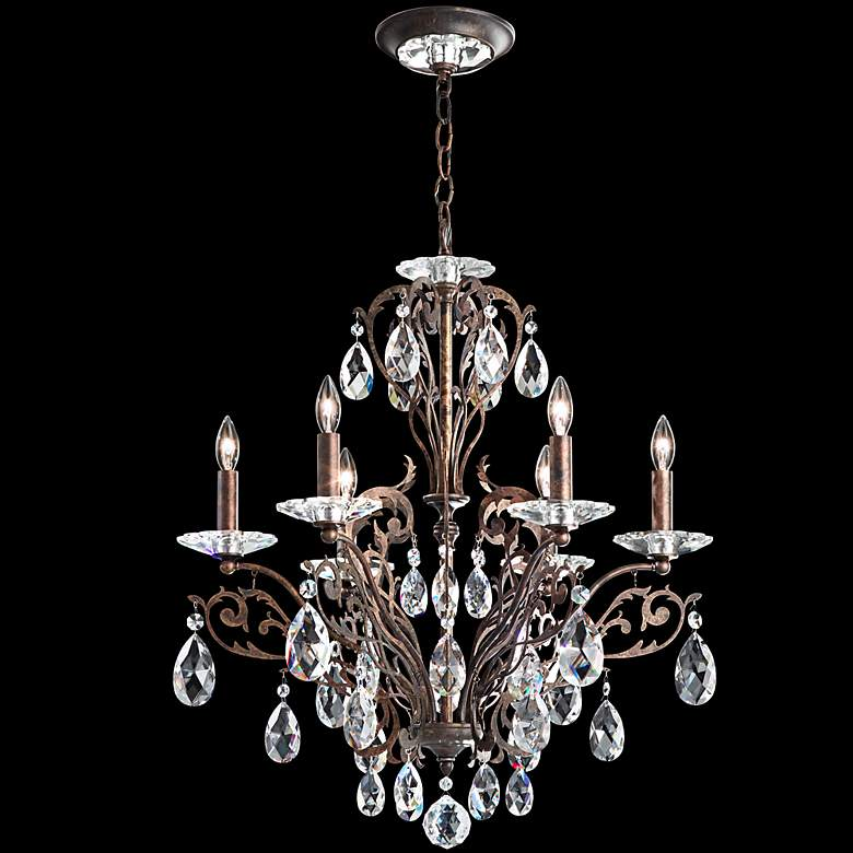 "Schonbek Filigrae 23""W Heirloom Bronze 8-Light Chandelier"