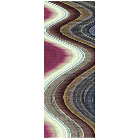 "Rumba I 63"" Wide Reverse Painted Glass Wall Art"