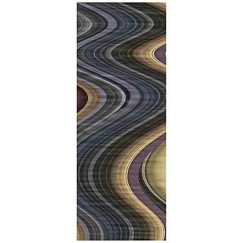 "Rumba II 63"" Wide Reverse Painted Glass Wall Art"