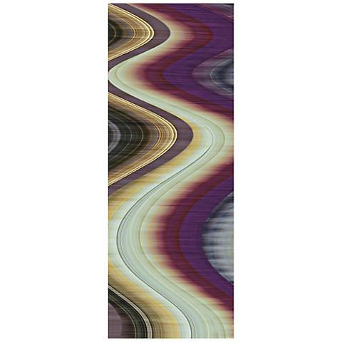 "Rumba III 63"" Wide Reverse Painted Glass Wall Art"