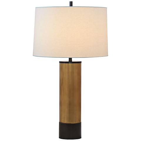 Port 68 Evanston Gold Plated Glass Table Lamp