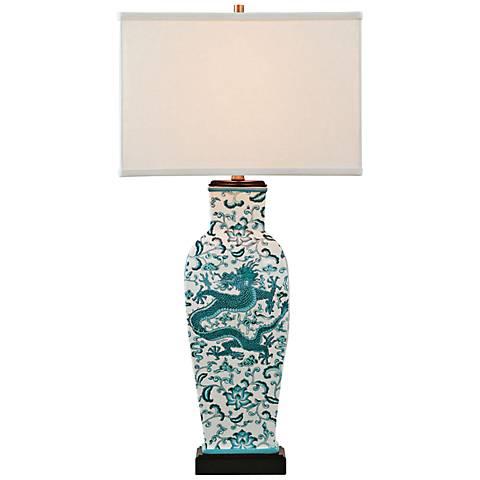 Port 68 Scalamandre Chi'en Glazed Porcelain Table Lamp