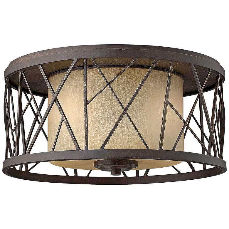 "Nest 16 1/2""W Oil-Rubbed Bronze Ceiling Light"