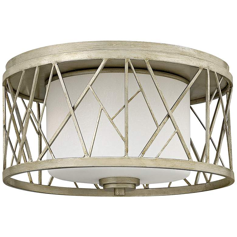"Fredrick Ramond Nest 16 1/2""W Silver Leaf Ceiling Light"