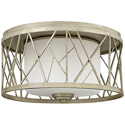 "Fredrick Ramond Nest 16 1/2""W Silver Leaf Ceiling Light"