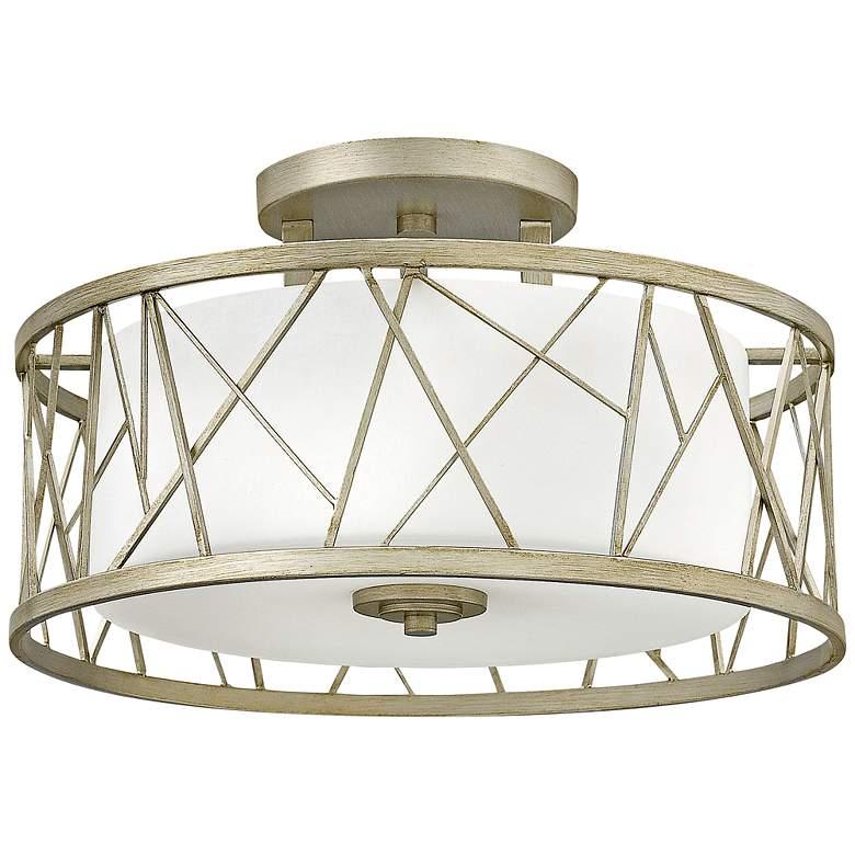 "Fredrick Ramond Nest 20"" Wide Silver Leaf Ceiling"