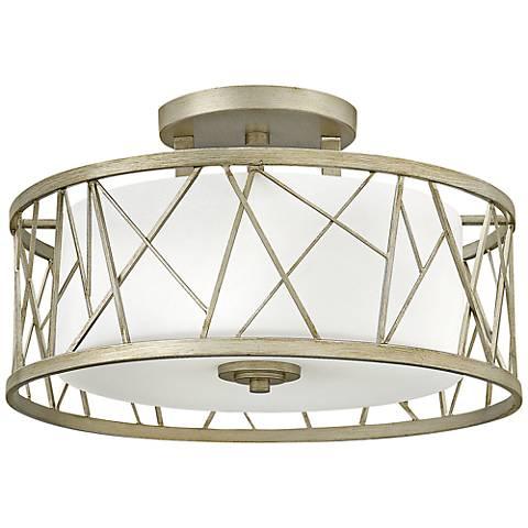 "Fredrick Ramond Nest 20"" Wide Silver Leaf Ceiling Light"