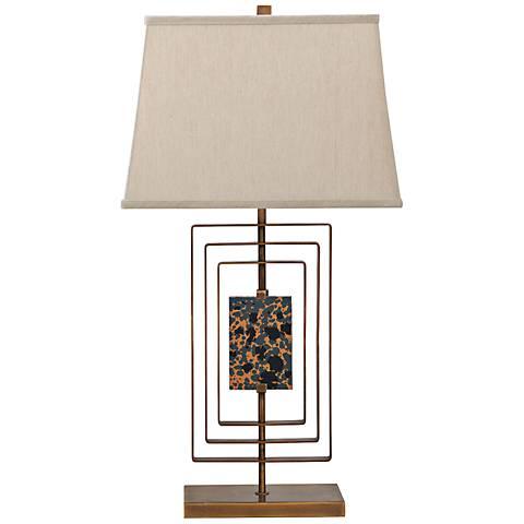 Port 68 Sawyer Aged Brass Steel Table Lamp