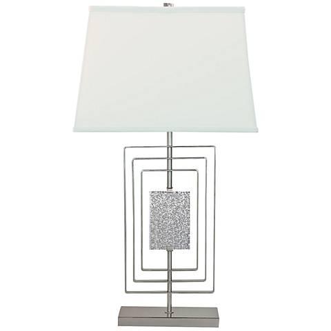 Port 68 Sawyer Plated Nickel Steel Table Lamp