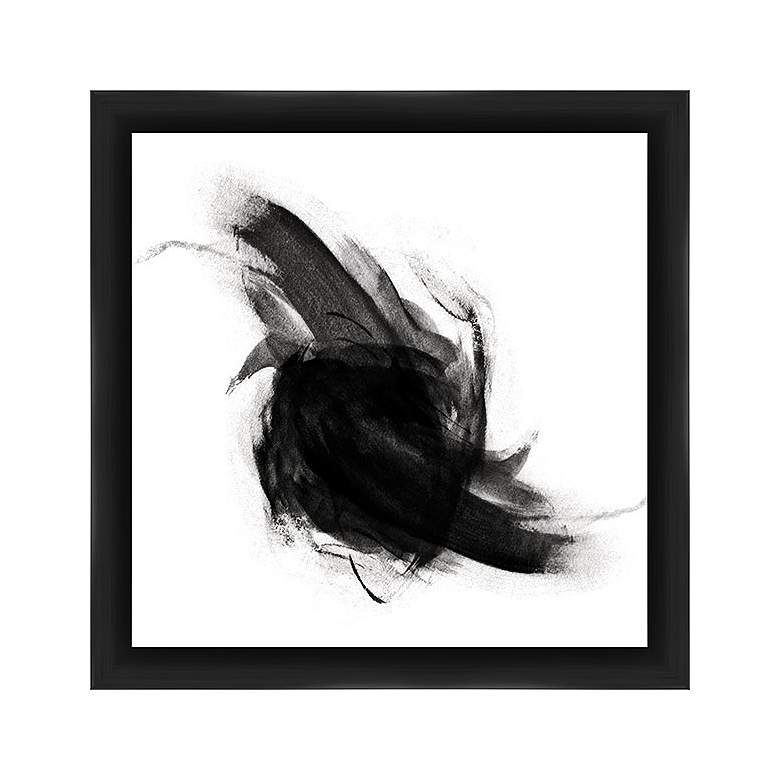 "Abstract White and Black 22"" Square Framed Wall Art"