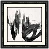 "Paint It Black I 25 1/2"" Square Framed Wall Art"